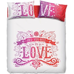 Complete Duvet Cover Set Bassetti Imagine Love Tatoo