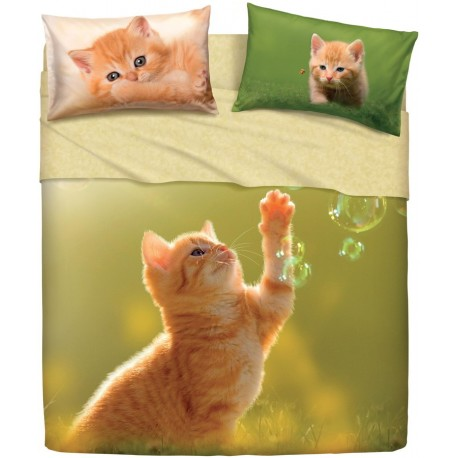 Completo Letto Bassetti Imagine Play Cat Gatto