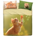 Complete Parure De Draps Bassetti Imagine Play Cat Chat