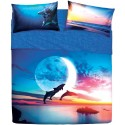 Complete Sheet Set Bassetti Imagine Jump Dolphins Sea Moon