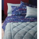 Complete Sheet Set Bassetti Time Words Double Pillowcases