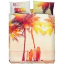 Complete Duvet Cover Set Bassetti Imagine Surfing Summer Palms Beach