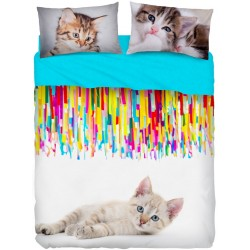 Complete Sheet Set Bassetti Imagine Miao Cats Color V1