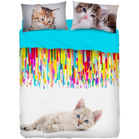 Completo Letto Bassetti Imagine Miao Gatti Colore V1
