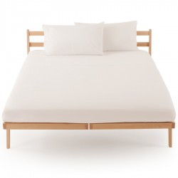 Fitted Sheet Percale Zucchi Clic Clac White