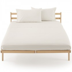 Fitted Sheet Percale Zucchi Clic Clac Pearl White