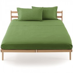 Fitted Sheet Percale Bassetti In Tinta Perfetto With Releaseable Angles Green Moss