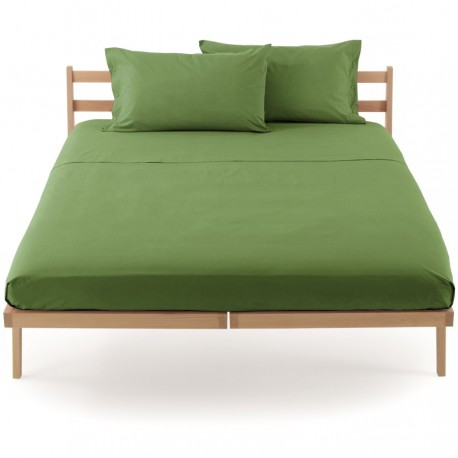 Fitted Sheet Percale Bassetti In Tinta Bassetti With Perfetto® Releaseable Angles Green Moss V3211