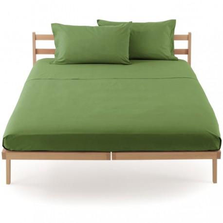 Lenzuolo Da Sotto Percalle Bassetti In Tinta Con Angoli Sganciabili Perfetto® Verde Muschio V3211