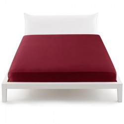 Fitted Sheet Percale Bassetti In Tinta Perfetto With Releaseable Angles Purple Plum