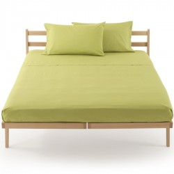 Fitted Sheet Percale Bassetti In Tinta Perfetto Releaseable Corners Green Apple