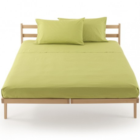 Bassetti's In Tinta Percale Fitted Sheet With Perfetto® Releaseable Elastic Corners Green Apple V3208