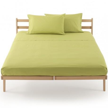 Lenzuolo Da Sotto Percalle In Tinta Bassetti Con Angoli Elastici Sganciabili Perfetto® Verde Mela V3208