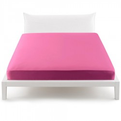 Bassetti's In Tinta Percale Fitted Sheet With Perfetto® Releaseable Elastic Corners Raspberry Pink V1818