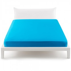 Fitted Sheet Percale Bassetti In Tinta Perfetto Releaseable Corners Azure