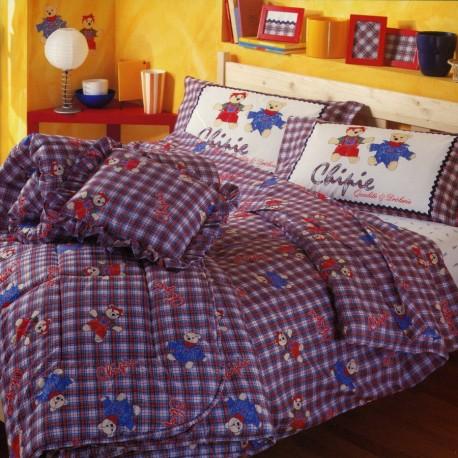 Quilt Bassetti Chipie Roudoudou Bleu V1 Little Bear