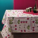 Tablecloth Bassetti Always-Clean Stain-Resistant Apples Strawberries Pears
