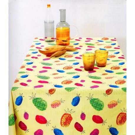 Tablecloth Bassetti Always-Clean Stain-Resistant Yuka Ananas Col.1 2915