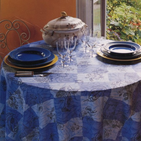 Tablecloth Bassetti Gabardine Tavola Più Stain-Resistant Strowberries Flowers V1