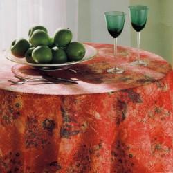 Tablecloth Bassetti Gabardine Tavola Più Stain-Resistant Romanza Flowers