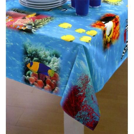 Tablecloth Bassetti La Natura Magie Di Sogno Stain-Resistant Aquarius V3