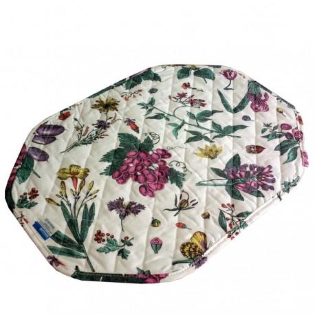 Set Table à l'Américaine Bassetti Avec Serviettes Fleurs Spring