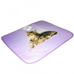 American Set Bassetti Double Face With Napkin La Natura Lovely Cat