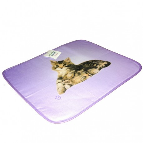American Set Bassetti Double Face With Napkins Lovely Cat V1