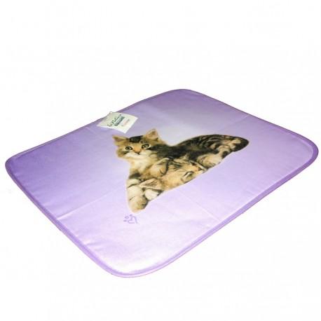 Set Table à l'Américaine Bassetti Double Face Avec Serviette Lovely Cat V1 Chat