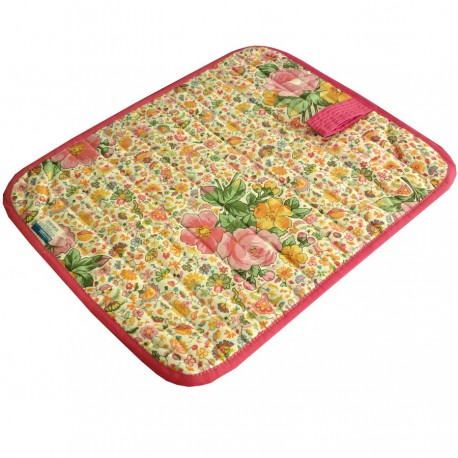 American Sets Bassetti Quilted Double Face With Napkins Esterel Flowers