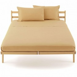 Drap Plat Bassetti Magic Beige Caramel Avec Bordécor
