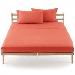 Flat Sheet Bassetti Magic Coral Orange With Bordécor