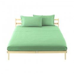 Drap Plat Bassetti Magic Vert Aigue-Marine Avec Bordécor