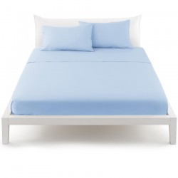 Flat Sheet Bassetti Refrain Azure With White Bordécor