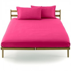 Fitted Sheet Bassetti Magenta With Perfetto Releaseable Elastic Corners