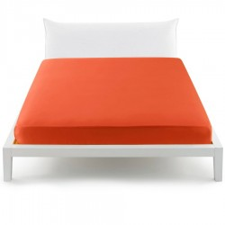Fitted Sheet Bassetti Orange With Perfetto Releaseable Elastic Corners