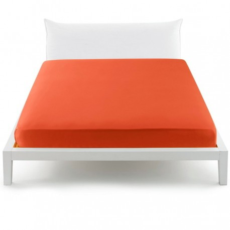 Fitted Sheet Bassetti Orange With Perfetto Releaseable Elastic Corners V1910