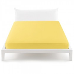 Fitted Sheet Bassetti Yellow With Perfetto Releaseable Elastic Corners