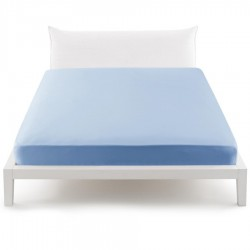 Fitted Sheet Bassetti Sky Azure With Perfetto Releaseable Elastic Corners