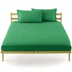 Fitted Sheet Bassetti Jade Green With Perfetto Releaseable Elastic Corners