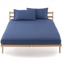Fitted Sheet Bassetti Ocean Blue With Perfetto Releaseable Elastic Corners
