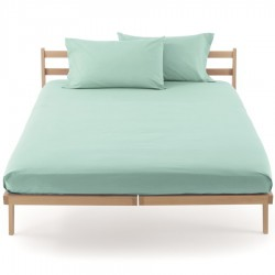 Fitted Sheet Bassetti Turquoise Azure With Perfetto Releaseable Elastic Corners