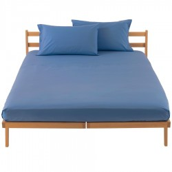 Fitted Sheet Bassetti Light Blue With Perfetto Releaseable Elastic Corners