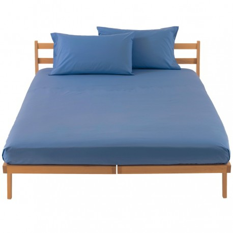 Fitted Sheet Bassetti Light Blue With Perfetto Releaseable Elastic Corners V312401