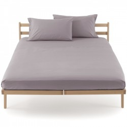 Fitted Sheet Bassetti Dove Grey With Perfetto Releaseable Elastic Corners