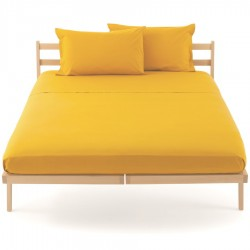 Fitted Sheet Bassetti Dark Yellow With Perfetto Releaseable Elastic Corners