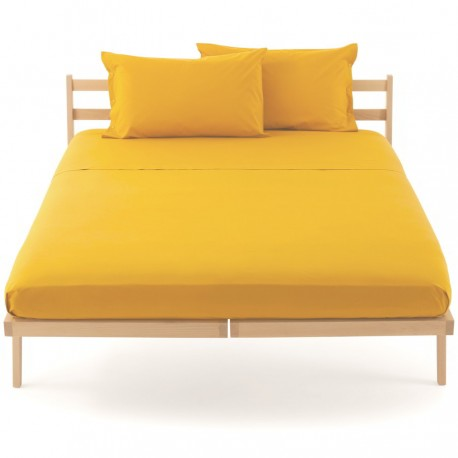 Fitted Sheet Bassetti Dark Yellow With Perfetto Releaseable Elastic Corners V2104