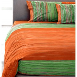 Duvet Cover Set Bassetti Gold Green V5