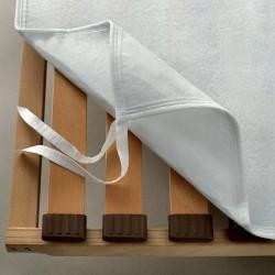 Coprirete Bassetti In Feltro Bianco Con Fettucce