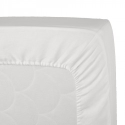 Mattress Cover Zucchi White Microsponge With Elastic Angles
